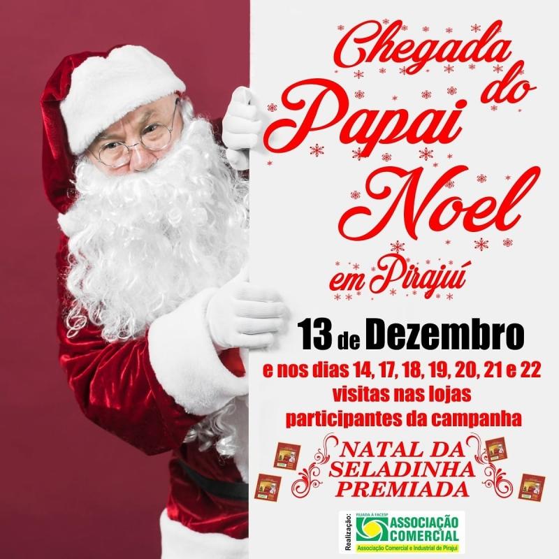 Visita do Papai Noel na Lojas Participantes da Campanha