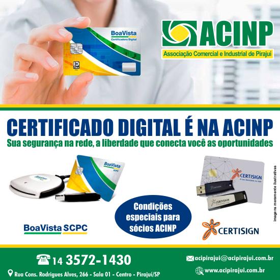 Emissão de Certificado Digital através a Associação Comercial e Industrial