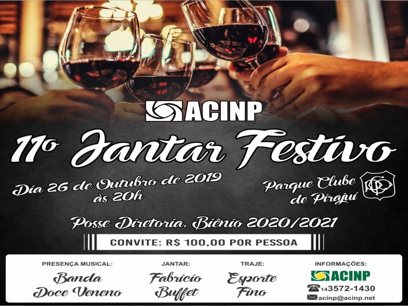 11º Jantar Festivo da Acinp